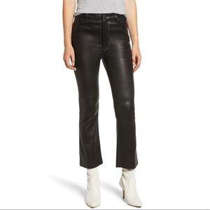 NWT CURRENT/ELLIOTT High Waist Kick Leather Pants